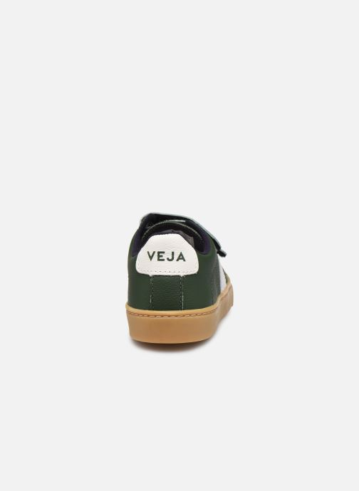 Deportivas Veja Small Esplar Velcro Leather Verde vista lateral derecha