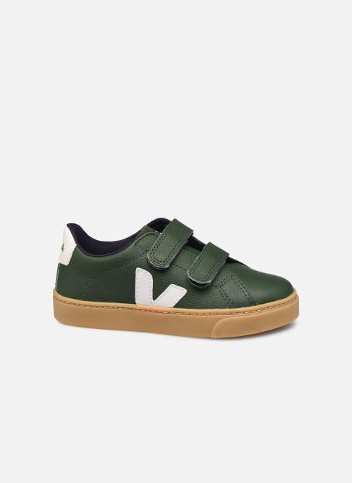 Deportivas Veja Small Esplar Velcro Leather Verde vistra trasera