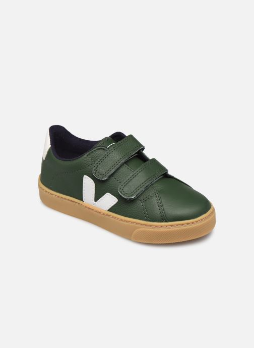 Deportivas Veja Small Esplar Velcro Leather Verde vista de detalle / par
