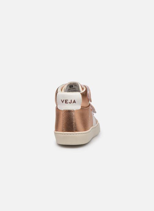 Baskets Veja Small Esplar Mid Leather Or et bronze vue droite