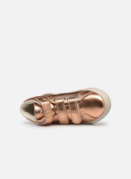 Deportivas Veja Small Esplar Mid Leather Oro y bronce vista lateral izquierda