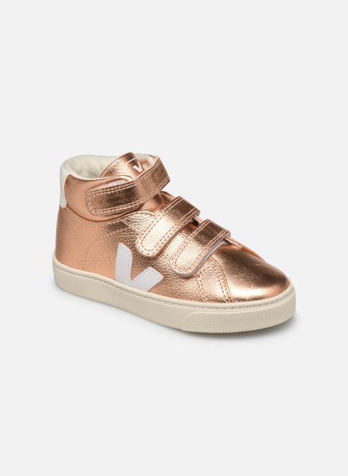 Sneaker Veja Small Esplar Mid Leather gold/bronze detaillierte ansicht/modell
