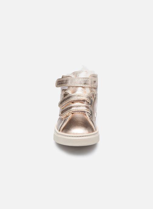Baskets Veja Small Esplar Mid Leather Argent vue portées chaussures