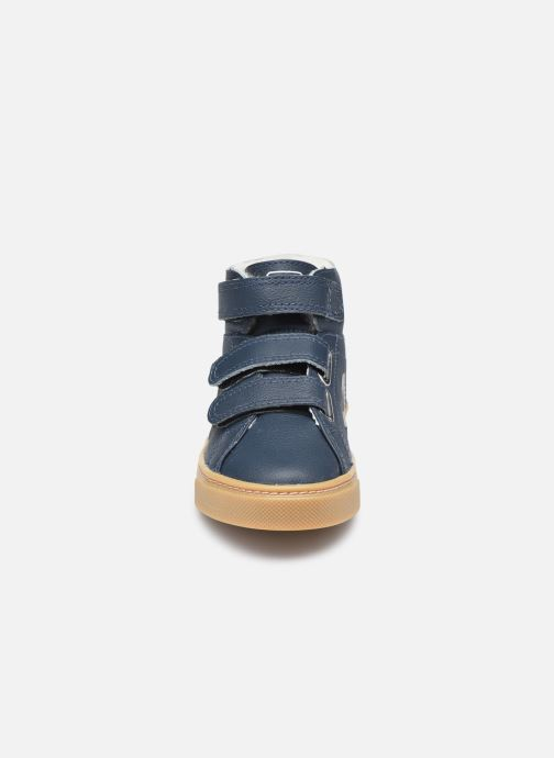 Sneakers Veja Small Esplar Mid Fur Leather Blauw model