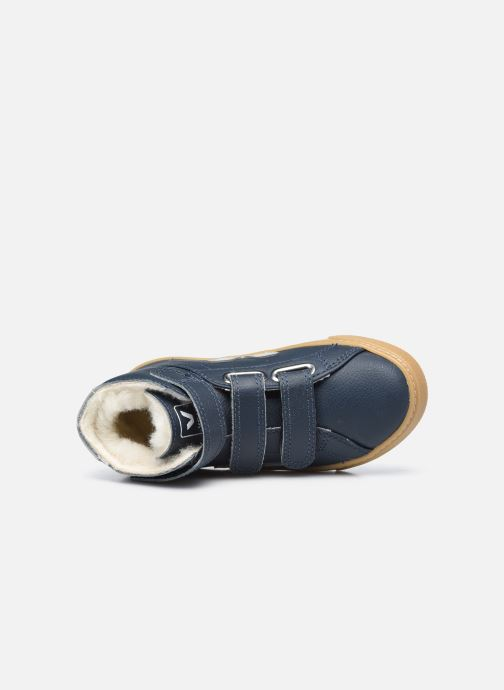 Sneakers Veja Small Esplar Mid Fur Leather Blauw links