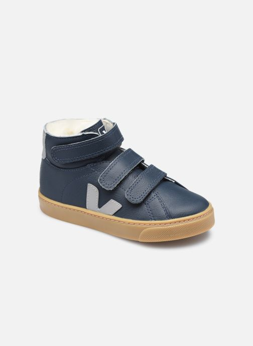 Sneakers Veja Small Esplar Mid Fur Leather Blauw detail