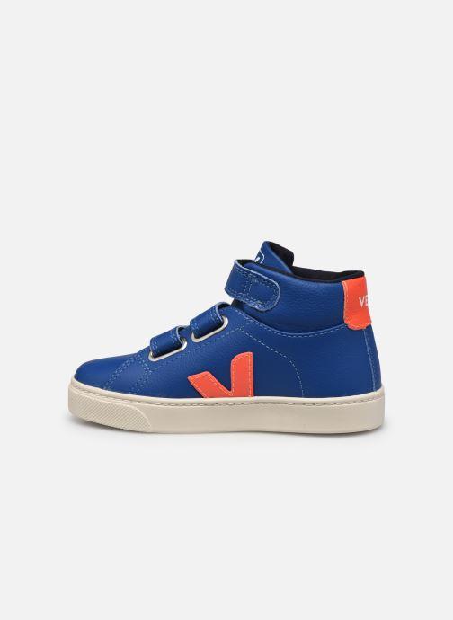 Sneaker Veja Small Esplar Mid Fur Leather blau ansicht von vorne