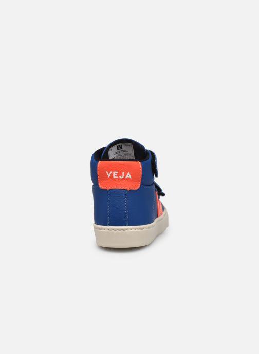 Sneaker Veja Small Esplar Mid Fur Leather blau ansicht von rechts
