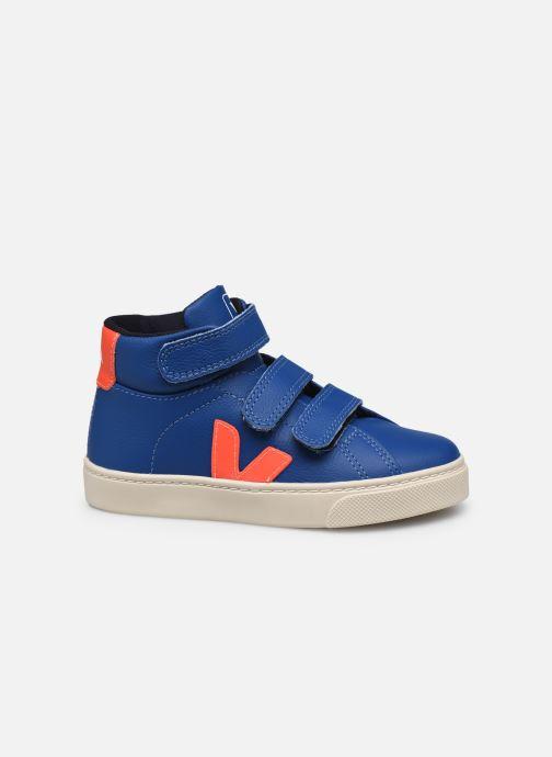 Sneaker Veja Small Esplar Mid Fur Leather blau ansicht von hinten
