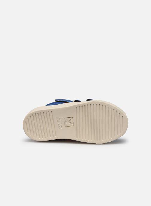 Sneaker Veja Small Esplar Mid Fur Leather blau ansicht von oben