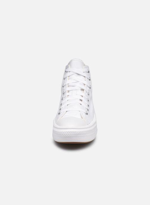 Baskets Converse Chuck Taylor All Star Move Canvas Color Hi Blanc vue portées chaussures