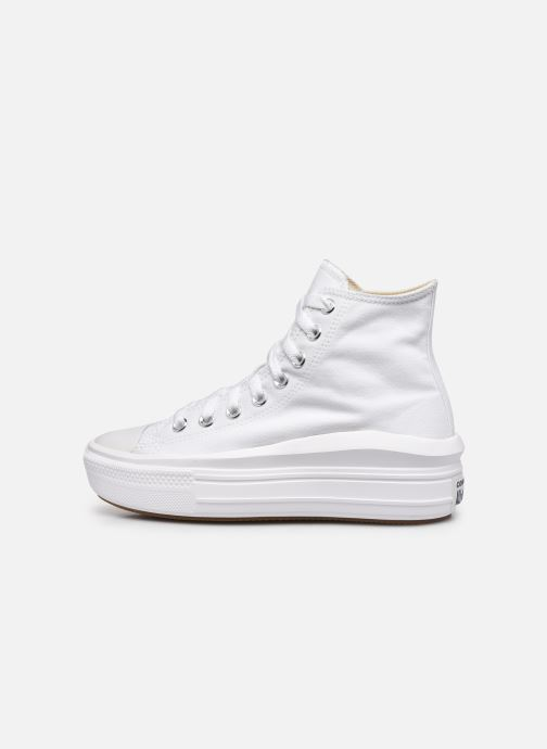 Baskets Converse Chuck Taylor All Star Move Canvas Color Hi Blanc vue face
