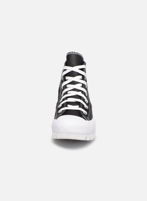 Sneaker Converse Chuck Taylor All Star Lugged Foundational Leather Hi schwarz schuhe getragen