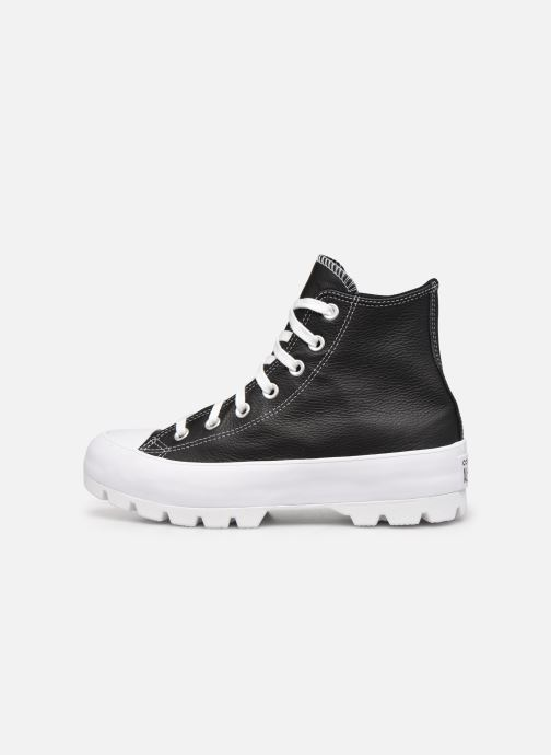 Sneaker Converse Chuck Taylor All Star Lugged Foundational Leather Hi schwarz ansicht von vorne