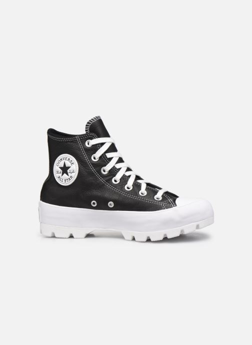 Sneaker Converse Chuck Taylor All Star Lugged Foundational Leather Hi schwarz ansicht von hinten