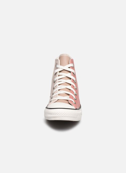 Baskets Converse Chuck Taylor All Star Core Tones Ox Rose vue portées chaussures