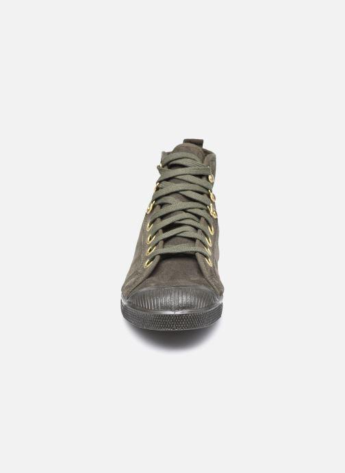 Baskets Bensimon Stella Suede Vert vue portées chaussures