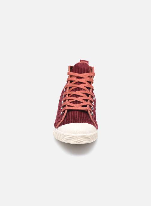 Sneaker Bensimon Tennis Stella Corduroy weinrot schuhe getragen