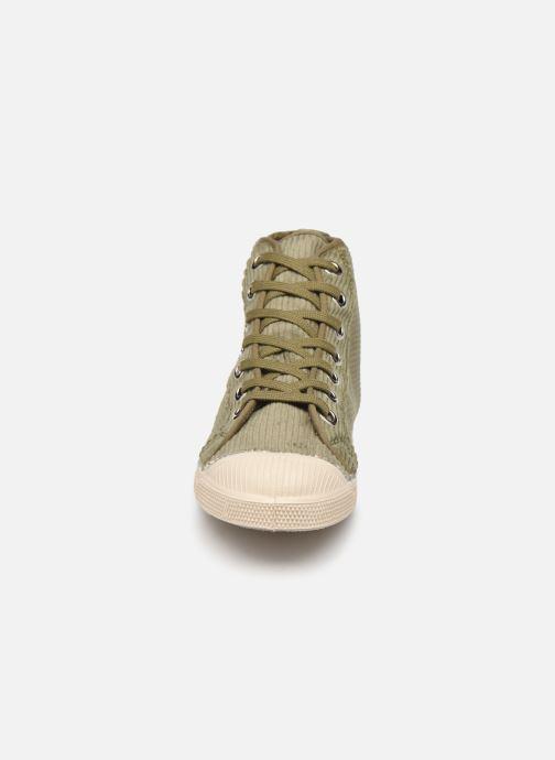 Baskets Bensimon Tennis Stella Corduroy Vert vue portées chaussures