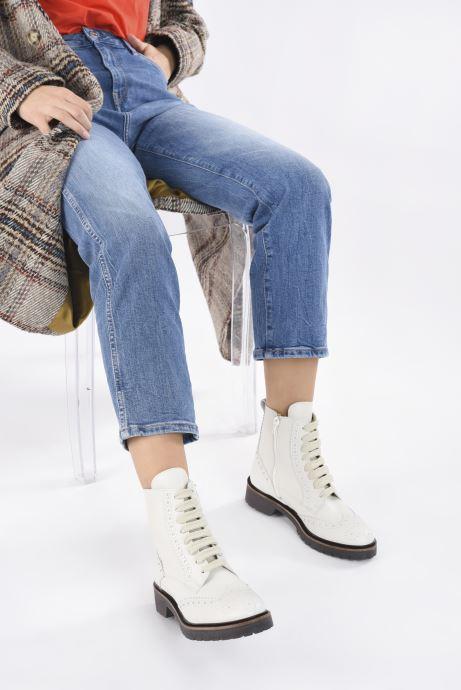 Stiefeletten & Boots Bensimon Derbys Montantes Ever weiß ansicht von unten / tasche getragen