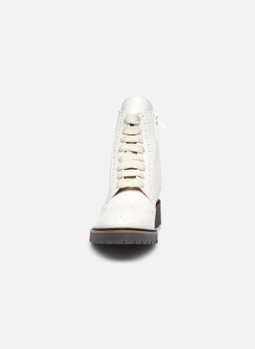 Stiefeletten & Boots Bensimon Derbys Montantes Ever weiß schuhe getragen