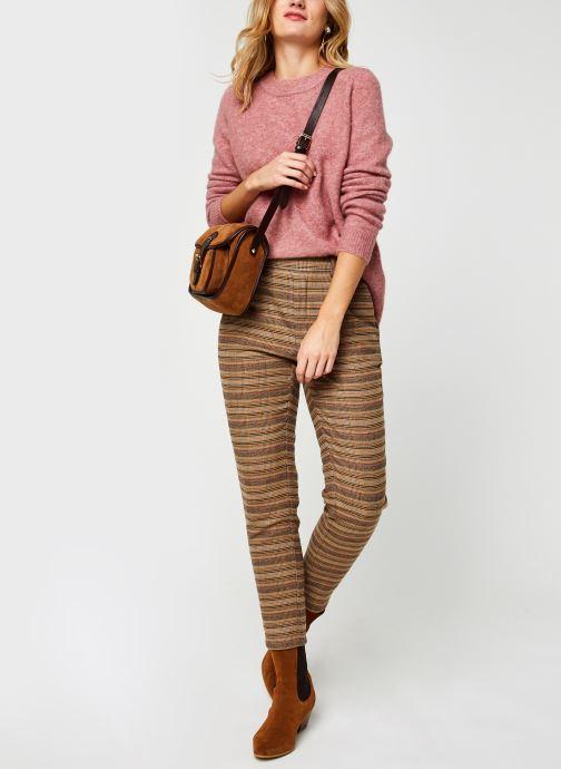 Vêtements OBJECT Objnete Knit Pullover Rose vue bas / vue portée sac
