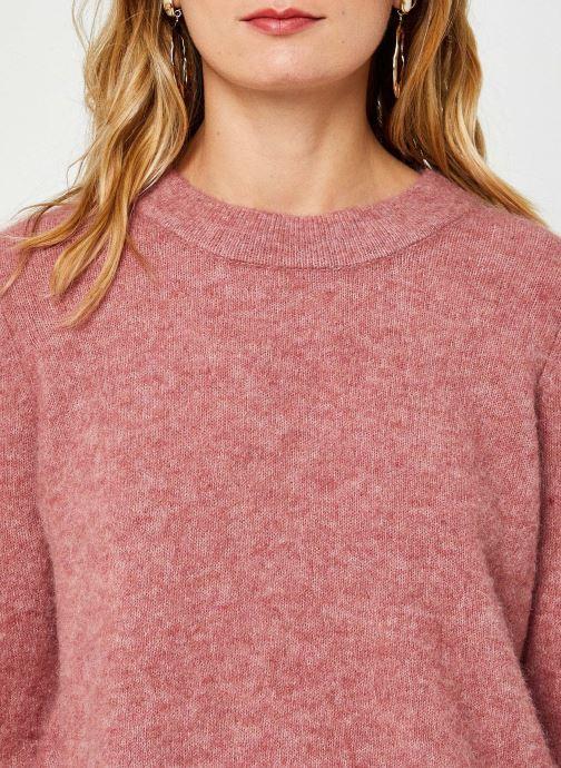 Vêtements OBJECT Objnete Knit Pullover Rose vue face