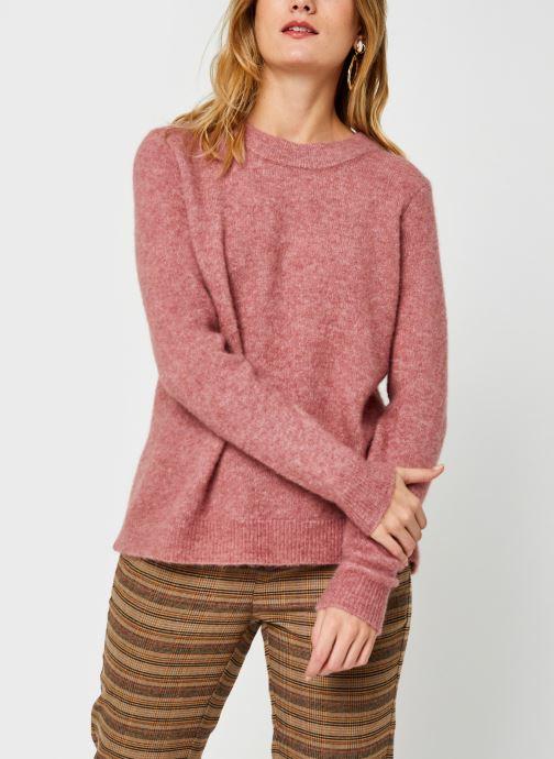 Vêtements OBJECT Objnete Knit Pullover Rose vue droite