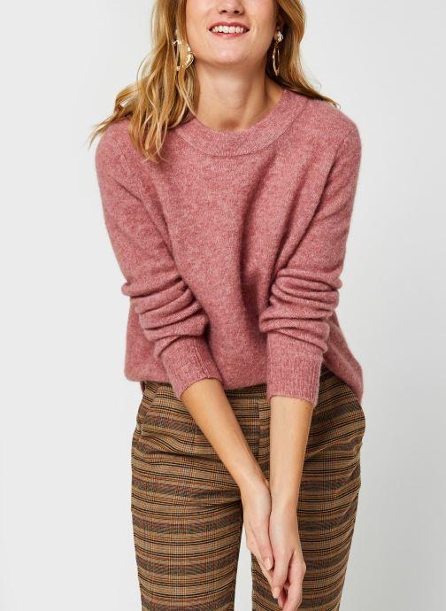 Vêtements OBJECT Objnete Knit Pullover Rose vue détail/paire