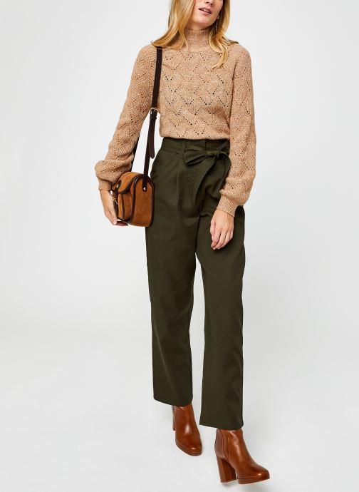 Vêtements OBJECT Objclaire Knit Pullover Beige vue bas / vue portée sac