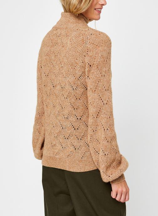 Vêtements OBJECT Objclaire Knit Pullover Beige vue portées chaussures