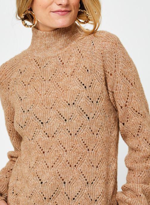 Vêtements OBJECT Objclaire Knit Pullover Beige vue face