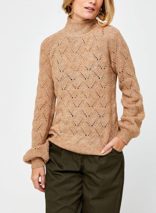 Vêtements OBJECT Objclaire Knit Pullover Beige vue droite