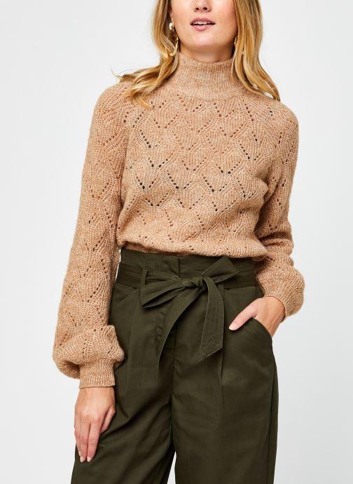 Vêtements OBJECT Objclaire Knit Pullover Beige vue détail/paire