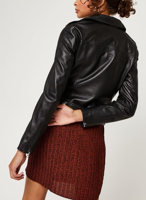 Kleding OBJECT Objnandita Leather Jacket Zwart model