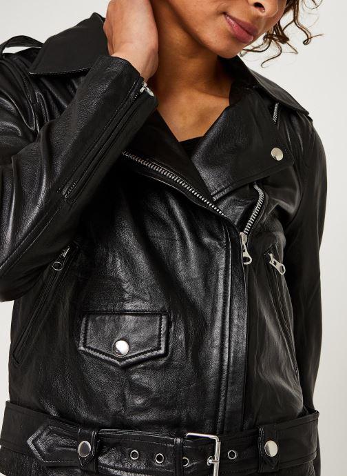 Kleding OBJECT Objnandita Leather Jacket Zwart voorkant