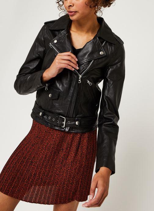 Kleding OBJECT Objnandita Leather Jacket Zwart rechts