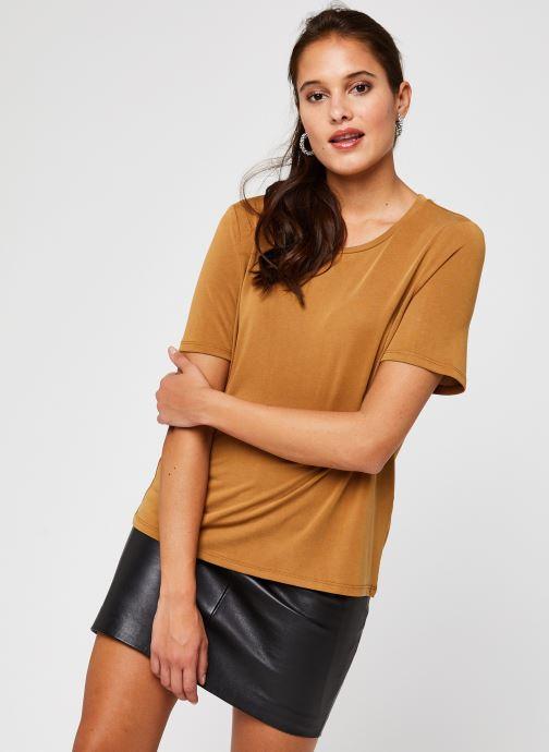 Vêtements OBJECT Objannie T-Shirt Marron vue droite