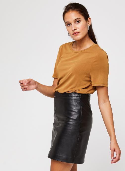Vêtements OBJECT Objannie T-Shirt Marron vue détail/paire