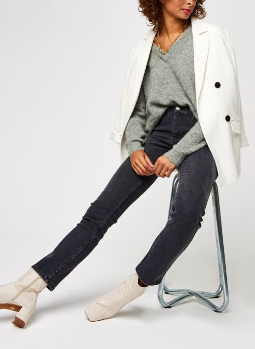 Vêtements OBJECT Objnete V-Neck Knit Pullover Vert vue bas / vue portée sac
