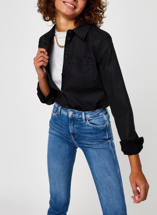 Kleding OBJECT Objbelle Supercoated Shirt Zwart detail
