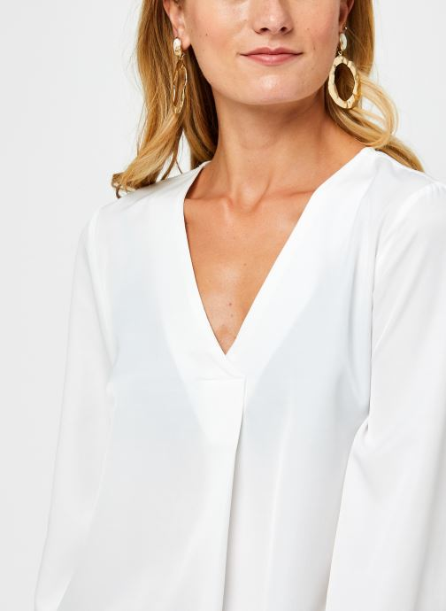 Vêtements OBJECT Objeileen V-Neck Top Blanc vue face