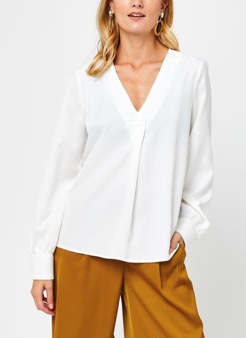 Vêtements OBJECT Objeileen V-Neck Top Blanc vue droite
