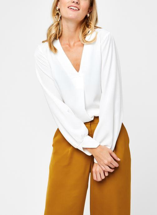 Vêtements OBJECT Objeileen V-Neck Top Blanc vue détail/paire