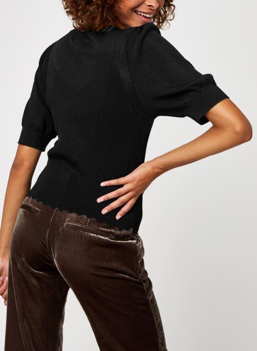 Vêtements OBJECT Objhanna Knit Pullover Noir vue portées chaussures