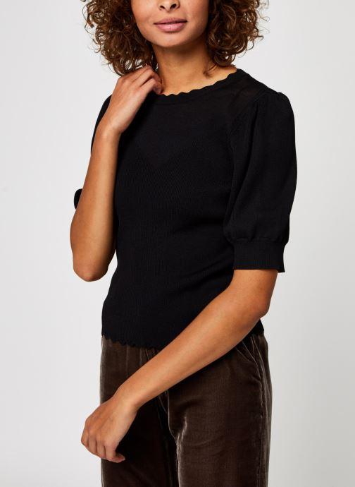 Vêtements OBJECT Objhanna Knit Pullover Noir vue droite