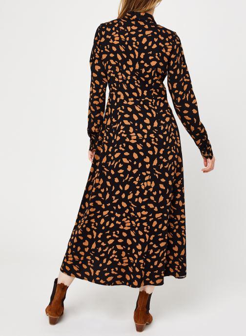 Vêtements OBJECT Objbaya Long Shirt Dress Noir vue portées chaussures