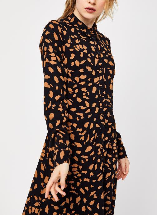 Vêtements OBJECT Objbaya Long Shirt Dress Noir vue face