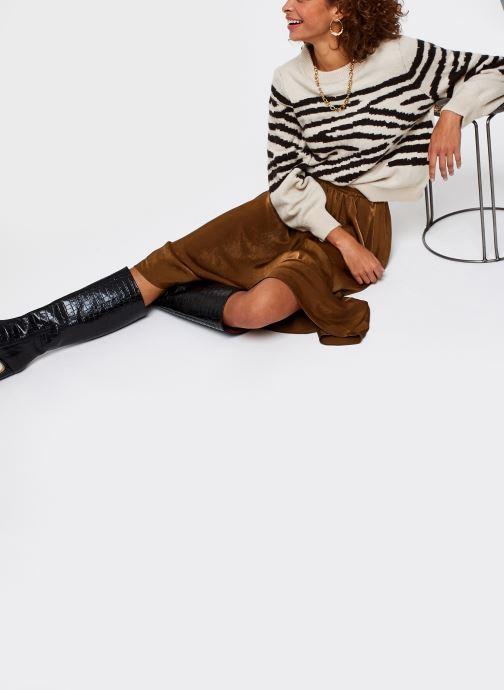 Vêtements OBJECT Objdarma Knit Pullover Beige vue bas / vue portée sac
