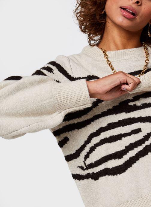 Vêtements OBJECT Objdarma Knit Pullover Beige vue face